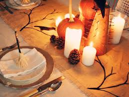 Halloween Table Decorations by How To Make A Burlap Halloween Table Runner Hgtv