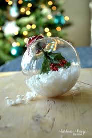 simple christmas craft winter wonderland ornament harbour