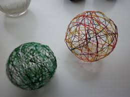 string ball ornaments child central station