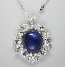 sapphire star necklace images 1940s raymond yard 15 83 carat star sapphire diamond and platinum jpg