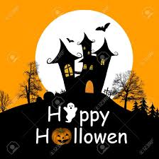 halloween clipart black background halloween background with haunted house bats and full moon
