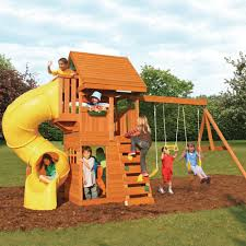 Big Backyard Playsets by Amazon Com Cedar Summit F24730 Grandview Deluxe Play Set Toys