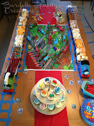 diy thomas the train birthday decorations cake ideas and