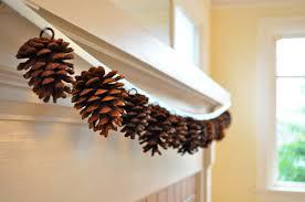 pinecone garland twig thistle diy pine cone garland