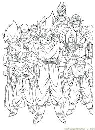 free dragon ball coloring pages coloring