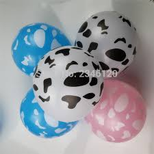 cow print balloons 30pcs lot print cow lines globos gifts festival birthday party cow