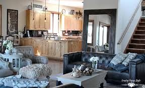 farmhouse livingroom industrial farmhouse living room country design style