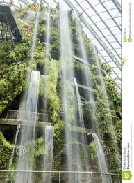 indoor garden and waterfall stock photo image 66155414