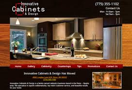 Home And Design Websites Innovative Cabinets U0026 Design New Website Reno Web Design