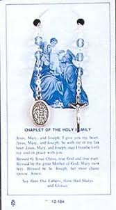 chaplet of the holy holy family rosary chaplet