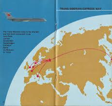 Condor Airlines Route Map by Airline Memorabilia Aeroflot 1988