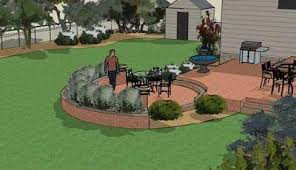 Patio Landscape Design 3d Landscape Design Patio Square Footage