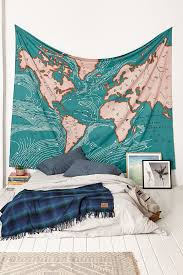 Map Tapestry 4040 Locust Ocean Current Tapestry Urban Outfitters On The Hunt