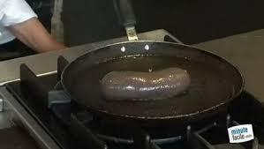 comment cuisiner le boudin noir bien cuire un boudin minutefacile com