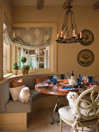 photos hgtv french country dining room with banquette seat loversiq