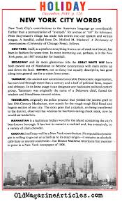 Articles Main Title New York U0027s Contributions To The English Language Words Created In