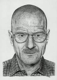 walter white bryan cranston bic pen portrait by borjich on