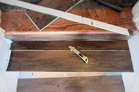 great solution wood look vinyl tile on a stair hometalk