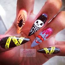 cool nightmare before christmas nail art for long nails