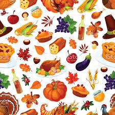 thanksgiving day traditional celebration pattern stock vector