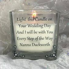 Wedding Memorial Personalised Wedding Memorial Candle Ebay