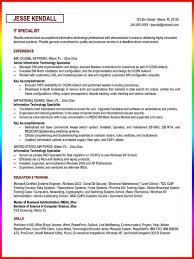 Resume Sample Technical Support by Job Description Technical Support Specialist