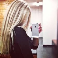 brown lowlights on bleach blonde hair pictures love the contrast but i would prefer the blond underneath and dark