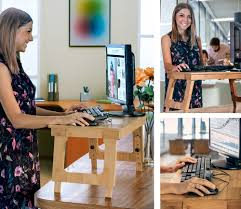 Sit To Stand Desk Converter by Eco Friendly Bamboo Sitting To Standing Desk Converter With