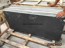 buy honed black slate slab for fireplace honed black slate slab