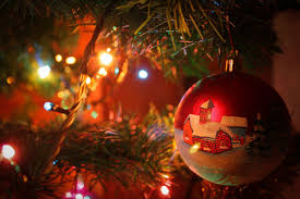 new year tree shine lights garland bulbs hd