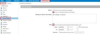 message d absence du bureau comment mettre en place un message d absence knowledge base