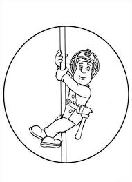 fireman sam on pole coloring page coloringplus colouring pages