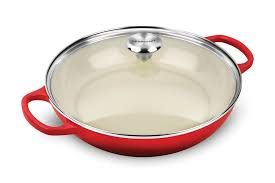 le creuset signature cast iron buffet casserole with glass lid