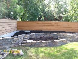 fabulous small garden wall designs landscaping raised bed along