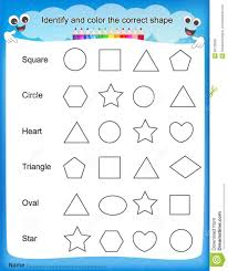 shapes worksheets for kindergarten printable preschool english
