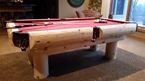 easy pool table plans rustic log pool tables billiards table