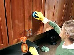 Washing Kitchen Cabinets How To Clean Sticky Wood Kitchen Cabinets Mydts520