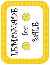 lemonade for sale decoration sales kit by andrea miller tpt