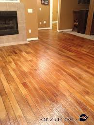 stained concrete floors cost vs tile how to paint look like wood