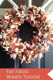 halloween fabric crafts fall fabric wreath tutorial by fabric wreath tutorial fabric