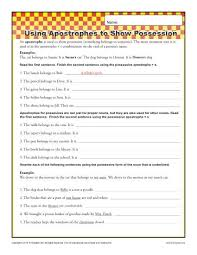 apostrophes and possession free printable punctuation worksheets