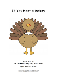 a turkey for thanksgiving book if you meet a turkey printable book a to z teacher stuff