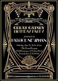 gatsby invitations great gatsby invite best 25 great gats invitation ideas on