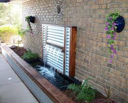 diy wall water fountain well suited ideas 3 feature stainless