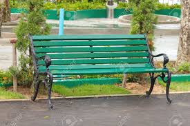 Metal Garden Chairs Metal Garden Chair In Beautiful Garden Stock Photo Picture And