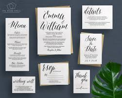 wedding invitation rsvp date printable wedding invitation suite calligraphy save the date