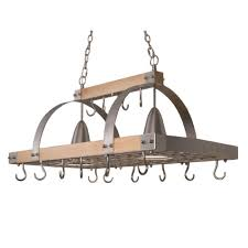kitchen island hanging pot racks elegant designs 2 light brushed nickel accents kitchen wood pot