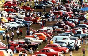 florida memory view showing cars on display during the daytona
