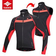warm cycling jacket santic cycling jacket men winter removable long sleeve thermal