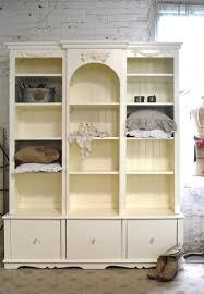 painted cottage chic shabby white handmade bookcase shabby chic